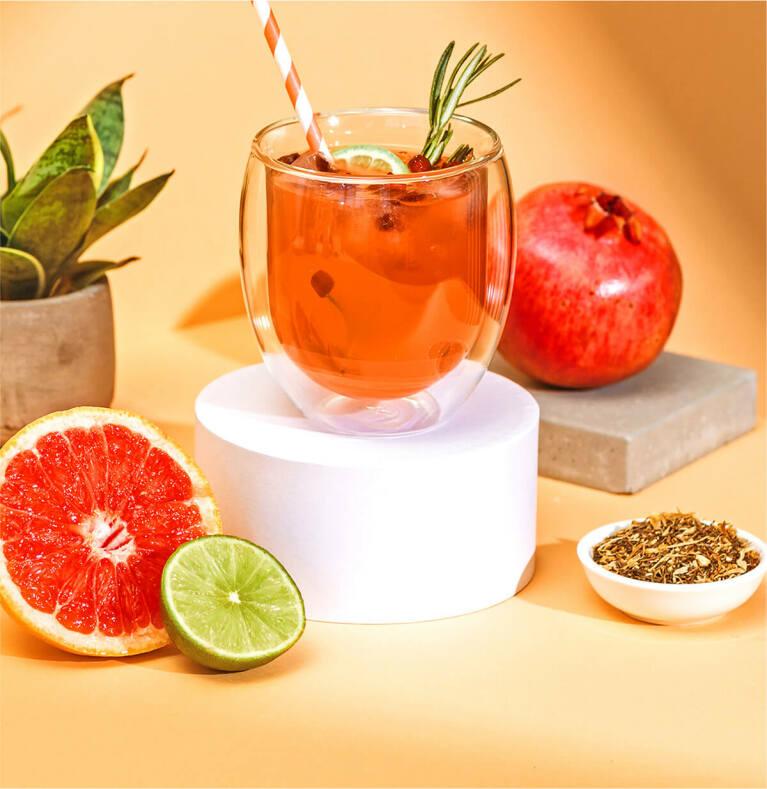 Grapefruit Granatapfel Eistee mit dem Roi Lemon