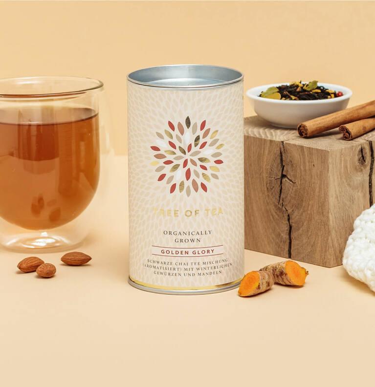 Der limitierte Golden Glory Chai Tee mit wärmenden Gewürzen