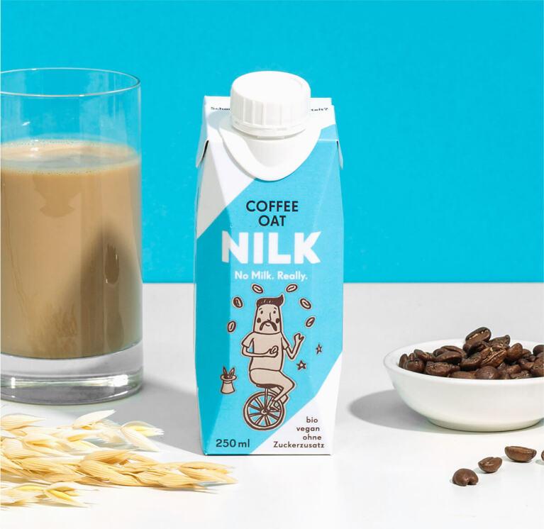 Nilk2go Coffee Oat mit besten Arabica-Bohnen.