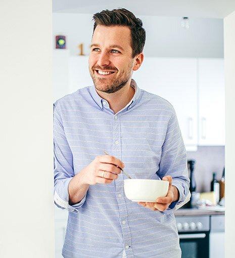 Müsli - das ideale Frühstück im Büro für Mitarbeiter