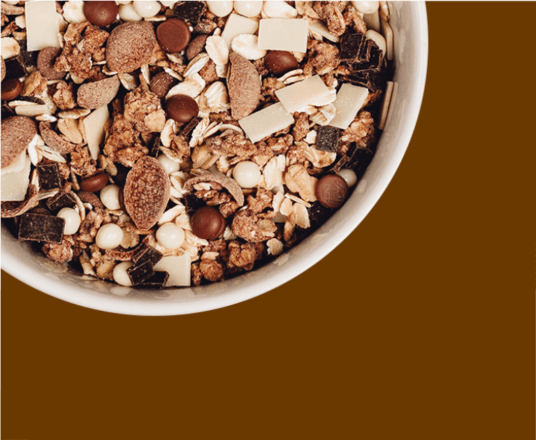 Dein Müsli-Mix mit viel Schokolade online bestellen.