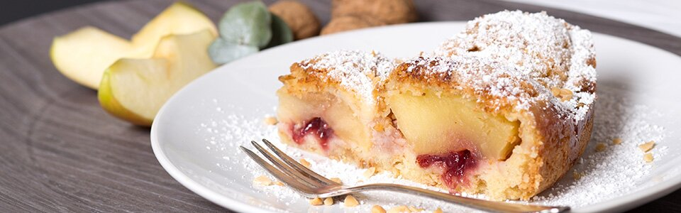 Rezept für saftigen Apfel-Mandel-Kuchen