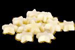 Witte chocolade sterren