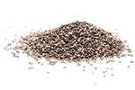 Eiwitrijke chia zaden in de mixer