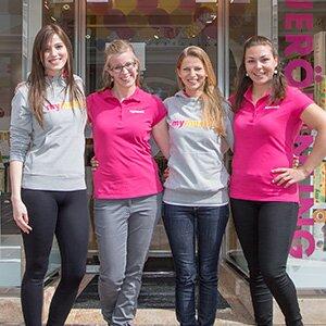 Das Team im mymuesli-Laden Klagenfurt