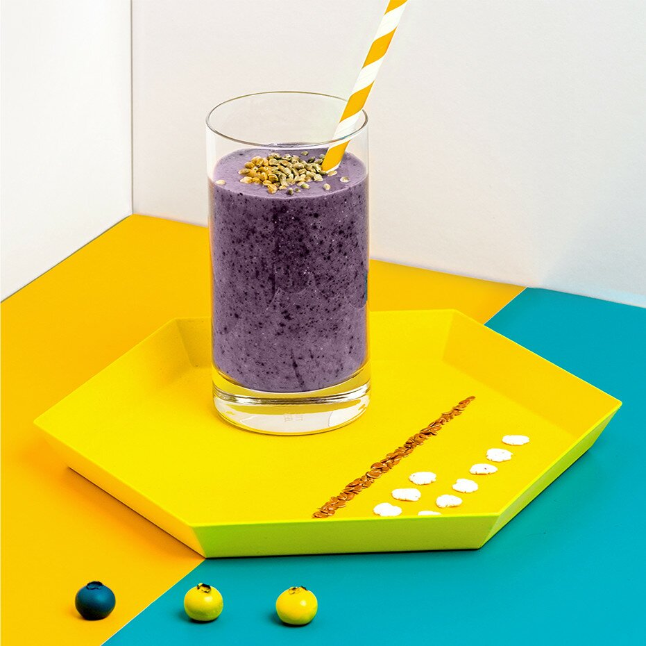 Protein Smoothie mit Blaubeeren