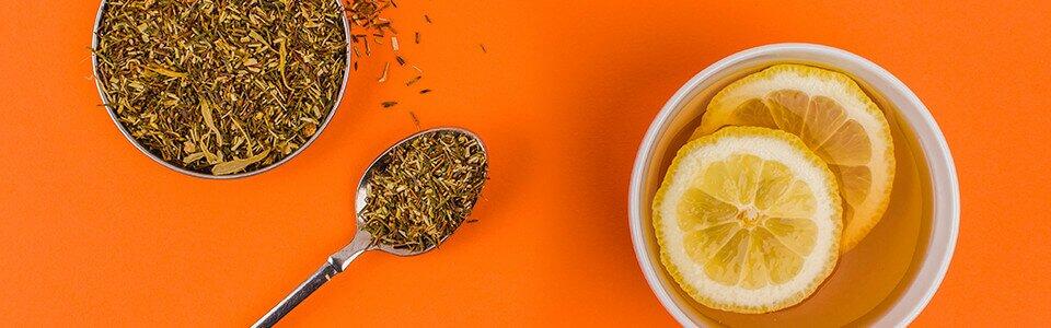 Grüner Rooibos Tee. Besonders mild und ein echter Genießer Tipp.
