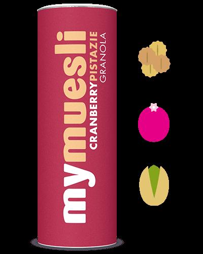Bio-Granola mit Cranberries und Pistazien