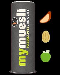 Paleo muesli met crunchy noten en stukjes appel